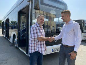 Tatár Béla, director general Transport Local SA şi Lucian Varga, Director general ATP Groupal